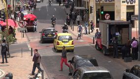 Urban Intersection, Traffic, Pedestrians stock footage