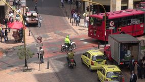 Urban Intersection, Traffic, Pedestrians stock video