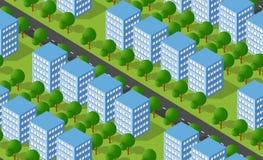 Urban isometric area royalty free illustration