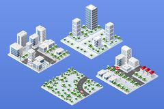 Urban area of the city vector illustration