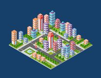 Urban area of the city royalty free illustration
