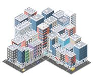 Urban area of the city stock illustration
