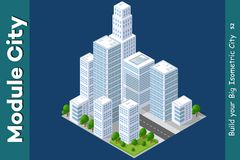 Urban Isometric skyscraper Stock Photography