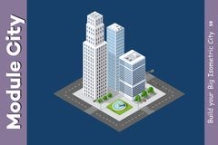 Urban Isometric skyscraper Stock Image