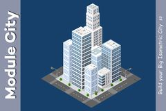 Urban Isometric skyscraper Royalty Free Stock Photos