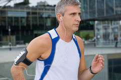 Urban Jogging Stock Image