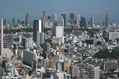 Urban jungle. Tokyo cityscape with Shinjuku business district in the background stock photography