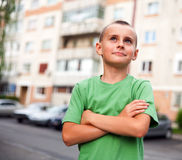 Urban kid outdoor Royalty Free Stock Photo