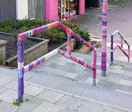 Urban knitting street art Stock Images