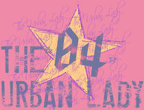 The urban lady. I design based on the juvenile fashion of the women Stock Photography