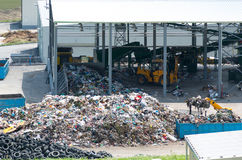 Urban landfill. Waste treatment plant depot. Stock Photo