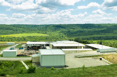 Urban landfill. Waste treatment plant depot, preparing it for separation. Stock Photography