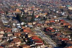 Urban Landscape. Aerial view of an urban neighborhood Royalty Free Stock Images