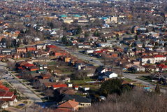 Urban Landscape. Aerial view of an urban neighborhood Stock Images