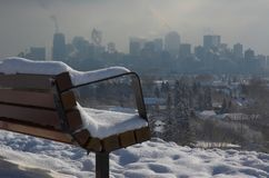 Urban landscape. In deep, cold winter stock images