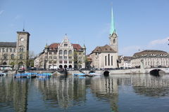 Urban landscape. In Zurich Switzerland with landscape in the city Stock Photos