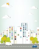 Urban landscape. Creative vector applique vector illustration