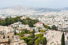 Urban landscape of Athens Royalty Free Stock Photography