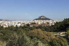 Urban landscape Athens. Panoramic view of the city of Athens Greece Royalty Free Stock Photography
