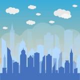 Urban landscape background. Vector illustration of city skyline Stock Photos