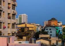 Urban landscape. Of Bangkok community in the evening Stock Image