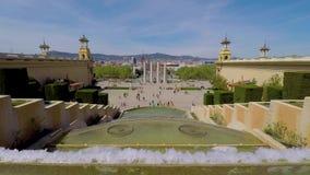 Urban landscape from Barcelona, Spain square. Spain, Barcelona stock video