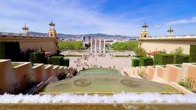 Urban landscape from Barcelona, Spain square. Spain, Barcelona stock video footage