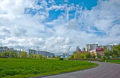 Urban landscape with a beautiful sky Royalty Free Stock Photo