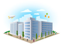 Urban landscape building, vector Stock Photo