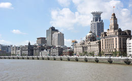 Urban landscape of the Bund Royalty Free Stock Photo