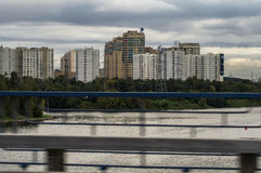 The urban landscape of the capital of Russia - Moscow. Moscow is one of the largest cities of Russia and different urban landscapes with an abundance of high Stock Images