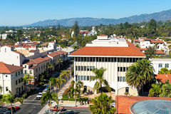 Urban landscape of the city of Santa Barbara, California Stock Image