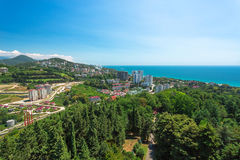 Urban landscape of the city of Sochi near sea, Russia Royalty Free Stock Image