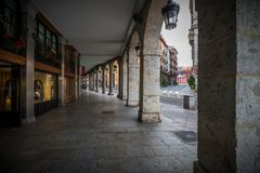 Urban landscape of the city of Valladolid Royalty Free Stock Images