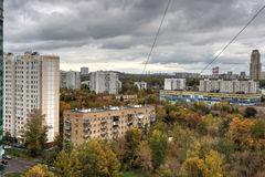 Urban landscape on a cloudy autumn day Stock Photography
