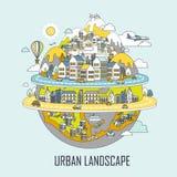 Urban landscape concept Stock Image