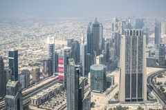 Urban landscape of Dubai, UAE stock images