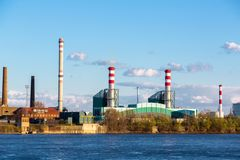 Urban landscape with factory. Outdoors royalty free stock photography