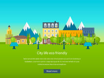 Urban landscape. Flat design vector concept Royalty Free Stock Photography