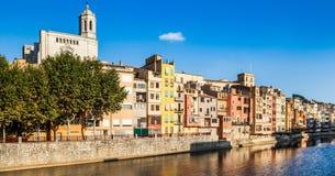 Girona facades Royalty Free Stock Photo