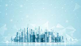 Urban Landscape Global network Royalty Free Stock Photography