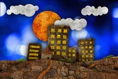 Urban landscape illustration Royalty Free Stock Image