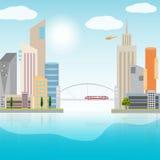 Urban landscape illustration Royalty Free Stock Photo