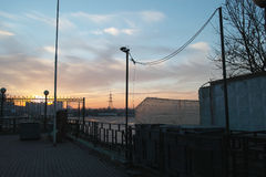 Urban landscape im autum time Stock Photo