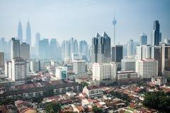 Urban landscape of Kuala Lumpur Royalty Free Stock Photos