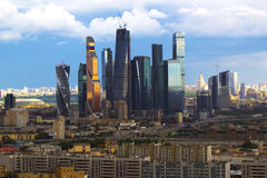 The urban landscape of large cities and megacities Stock Photo