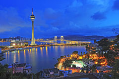 Urban landscape of Macau Stock Image