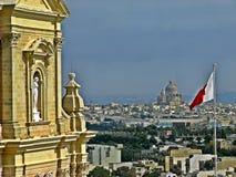 Skyline of Gozo stock images