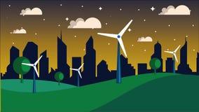 Urban landscape, park avenue. vector illustration. City Background. Fun Royalty Free Stock Photos
