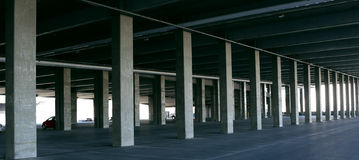 Urban Landscape Parking Garage and Concrete Structure Stock Images
